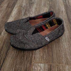 TOMS Men's Grey Classic Wool Fleece Alpargatas